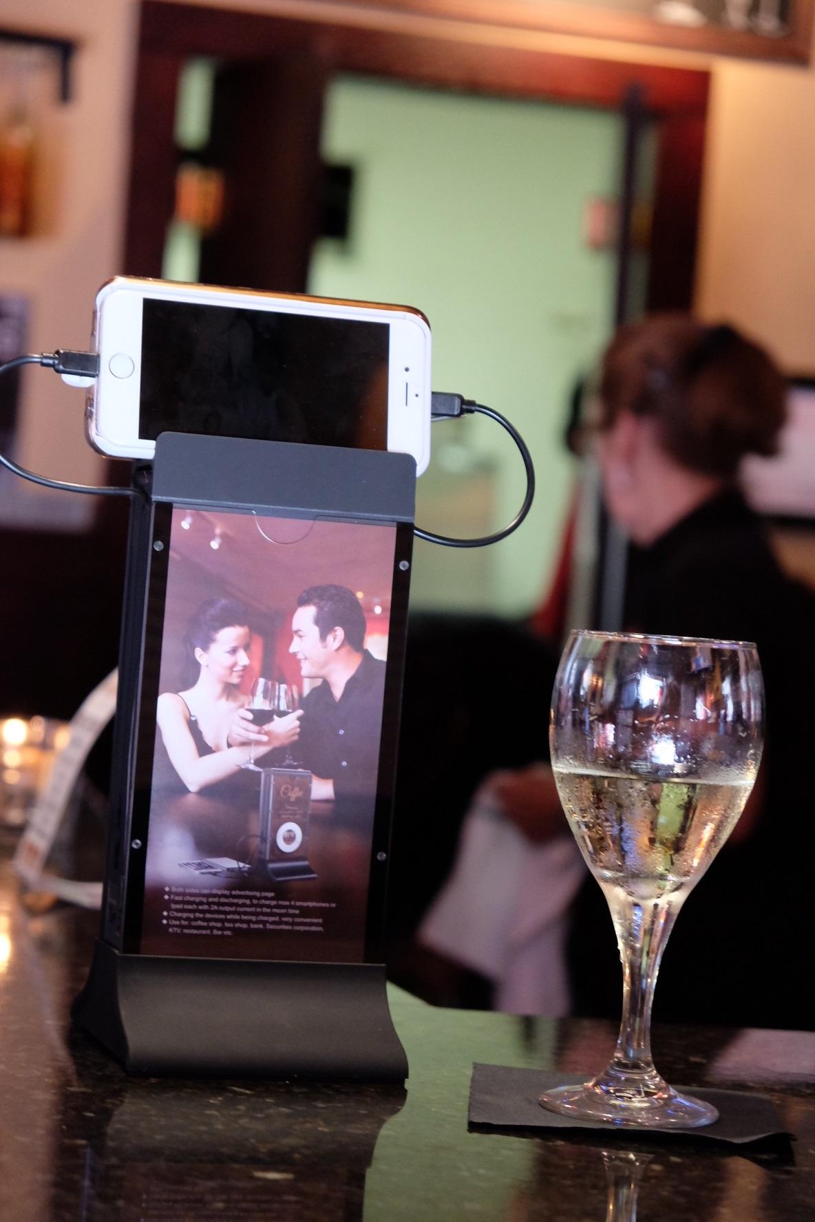 Table Tent Smartphone Power Station for Restaurants Bars
