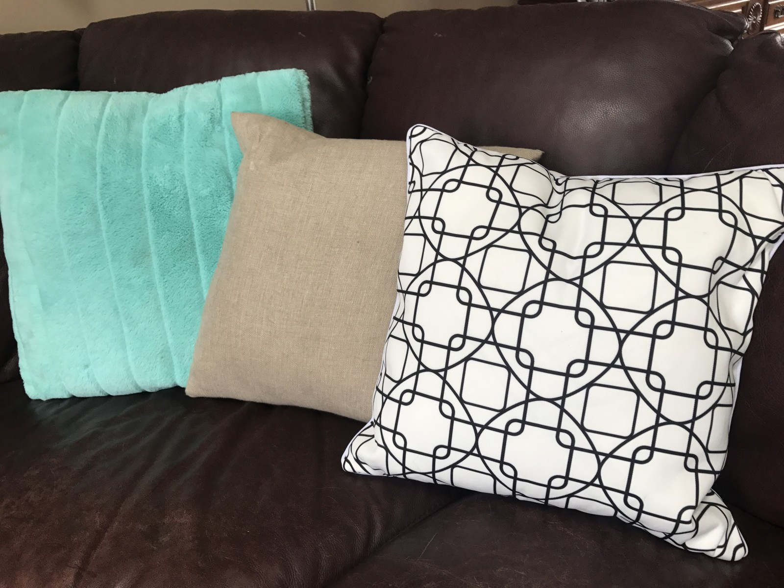 Great black and white geometric pillow cover!