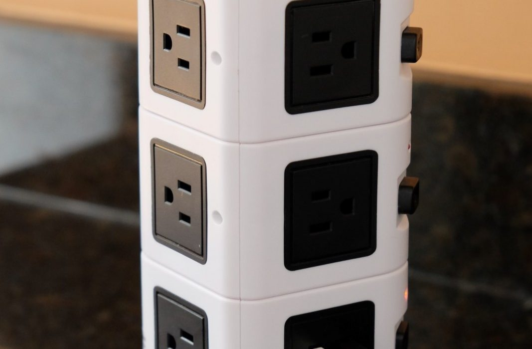 Rotating Electric Power Strip USB Plug