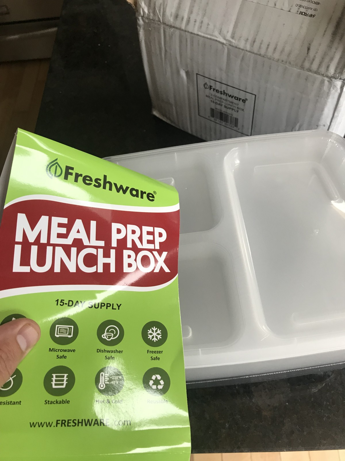 Meal Prep Bento Lunch Boxes with Lids 15 Day 30 Piece