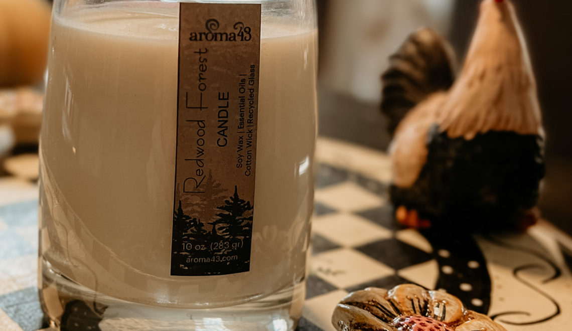 Aroma43 Eco Luxury Redwood Forest Candle